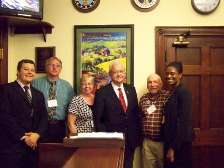 Iowa MSA Members with Rep Leonard Boswell