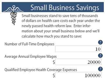 Small business tax credit calculator