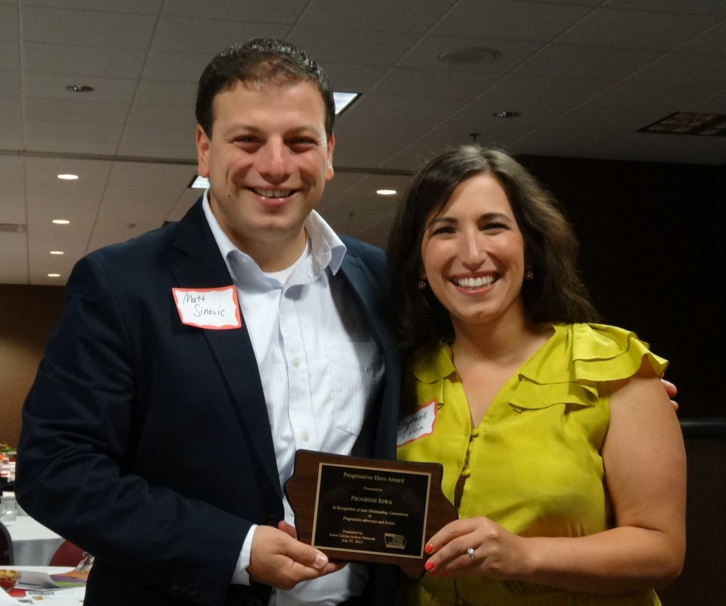 Matt Sinovic and Stephanie Lavia, Iowa Citizen Action Network, iowacan.org