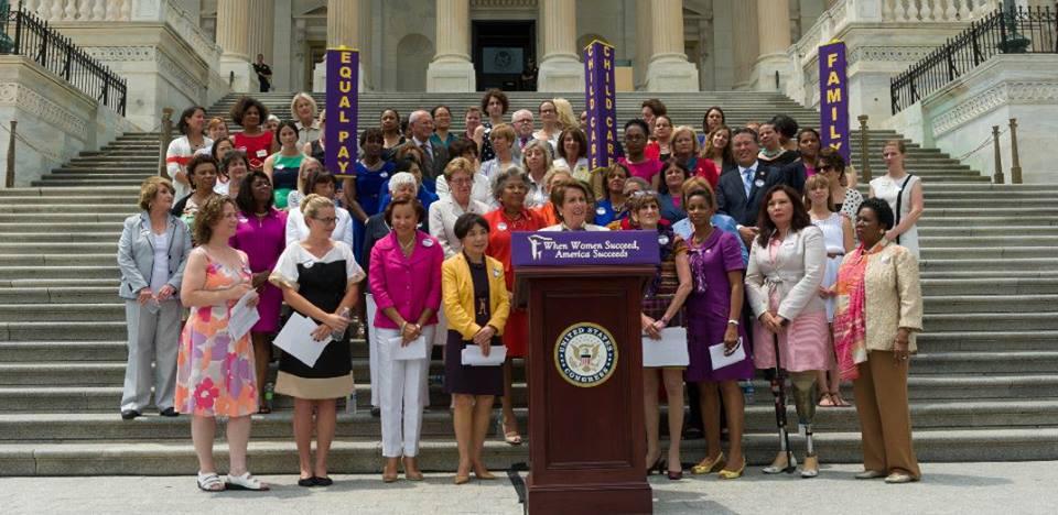Democratic Women on Capitol Steps, Iowa Citizen Action Network, iowacan.org